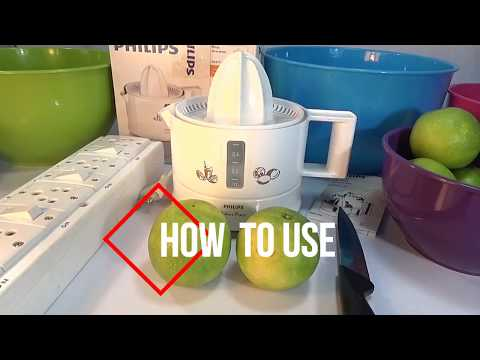Philips HR2771 Citrus Press Juicer   How to use