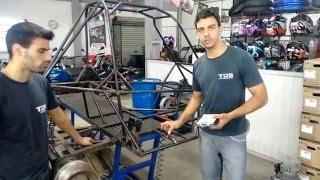 Kart Cross Construção Artesanal FASE 20 - Suporte Do Motor