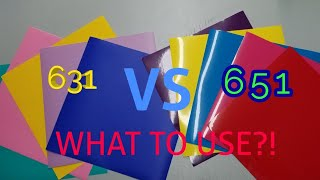 WHATS THE DIFFERENCE: 631 VS 651