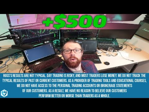 $500 in the AM Day Trading | Ross' Monday Recap