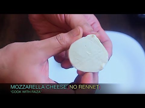 MOZZARELLA CHEESE / PIZZA CHEESE (NO RENNET) *COOK WITH FAIZA*