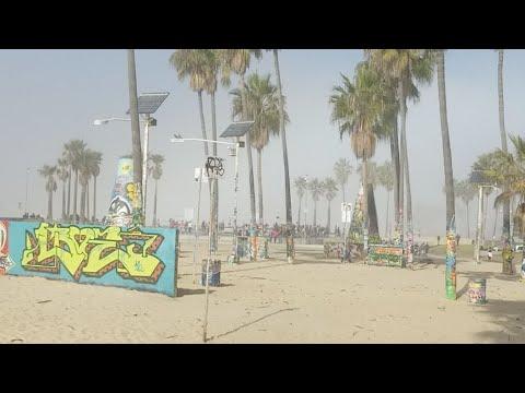 Venice Beach Cool Fog but a very nice day