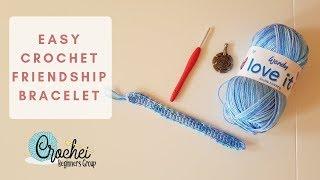 Easy Crochet Friendship Bracelet