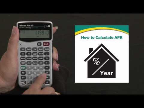 Qualifier Plus IIIx - Calculating Annual Percentage Rate