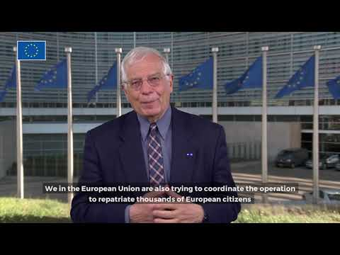 Josep Borrell video message on coronavirus outbreak (subtitles)