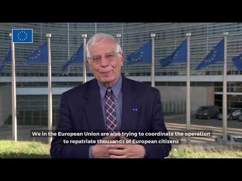 Josep Borrell video message on coronavirus outbreak (subtitles)