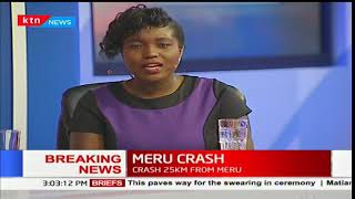 BREAKING NEWS: 10 people feared dead after a matatu from Meru rammed into a Lorry