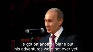 Putin about DiCaprio's flight to Russia [Eng Sub]