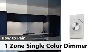 Watch how to pair a SINGLE Color 1 Zone Dimmer with its Receiver