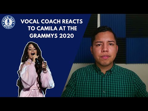 Vocal Coach Reacts to Camila Cabello at the Grammys 2020 - [First Man]