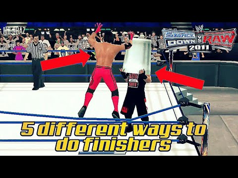 Download 5 different ways to do finishers in svr 2011/2k18 Wwe2k11 HD Mp4 3GP Video and MP3