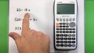 Basic Math - Using a Casio fx-9750GII Calculator