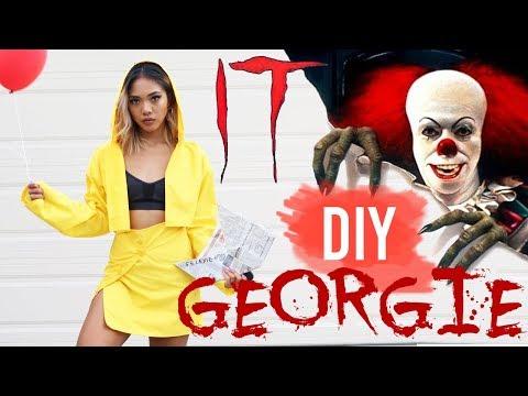 DIY GEORGIE (IT MOVIE) HALLOWEEN COSTUME FOR GIRLS!   Nava Rose