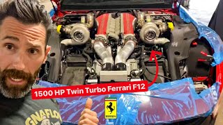 CRAZIEST TWIN TURBO FERRARI F12 ALMOST COMPLETE!   *Built by Aaron Kaufman*