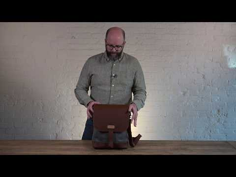 Field Bag Waxed Canvas Messenger Bag Video