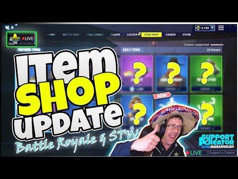 📺MenamesCho's LIVE ♻ ITEM SHOP UPDATE Last Shop of Season X Fortnite Battle Royale - 12th Oct 2019