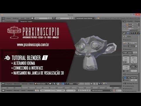 Tutorial de Blender (em Português) • Aula 1 • Introdução