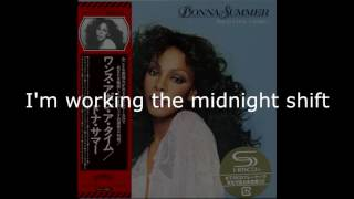 "Donna Summer - Working the Midnight Shift LYRICS - SHM ""Once Upon A Time"" 1977"