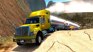 ¡EXTREMO! Pendientes MUY INCLINADAS con CURVAS - International Work Star - American Truck Simulator