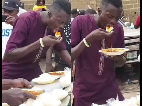 Fufu Competitions!This Guy Finish 10 Fufu As Saidi Balogun, Kamilu kompo, Sanyer,Others Record