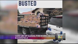 Busted: Kern County Fire Department seizes 1,500 pounds of illegal fireworks