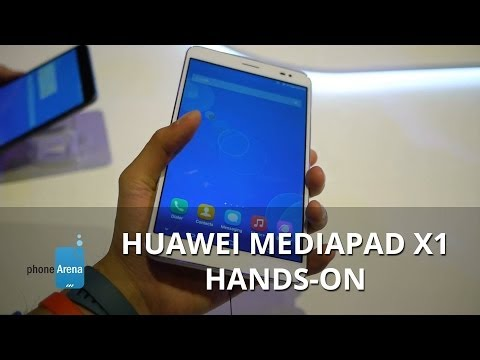 Huawei MediaPad X1 hands-on: super thin, lightweight, and compact hybrid