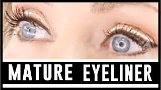 How To Apply Eyeliner To Mature Eyes | Instant Eye Lift & Brightening Effect! fabulous50s