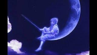 Мальчик с удочкой на луне