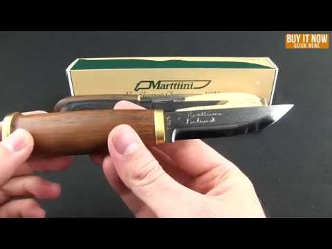 "Marttiini Owl Knife Fixed Blade Knife Curly Birch (4.375"" Mirror)"