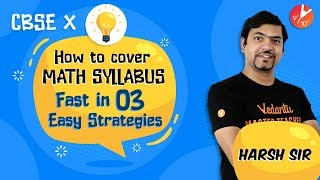 TOP 3 STUDY STRATEGIES: Fastest Way to Cover Maths Syllabus   CBSE Class 10 Maths Tips and Tricks