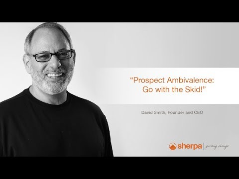 David's Sales Tips: Prospect Ambivalence – Going with the Skid
