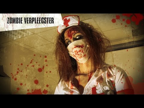 Halloween zombie verpleegster make-up tutorial