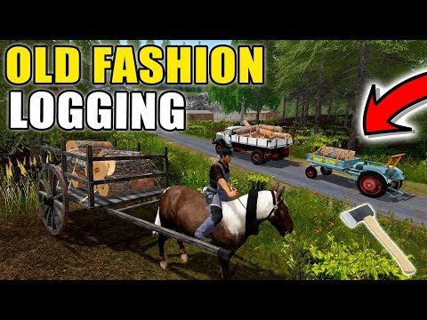 START OF SOMETHING NEW | OLD FASHION LOGGING | MULTIPLAYER | FARMING SIMULATOR 2017
