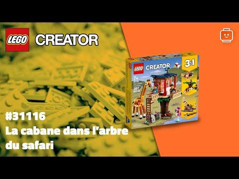 Vidéo LEGO Creator 31116 : La cabane dans l'arbre du safari