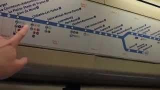 Taking an old RER B train from Aéroport Charles de Gaulle 2 - TGV to Denfert-Rochereau