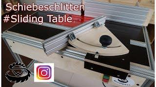 Schiebeschlitten Selber Bauen  Sliding Table DIY #Part4