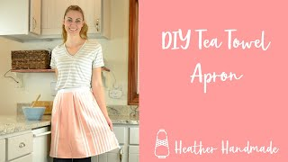 Easy Handmade Gift: Towel Apron Tutorial