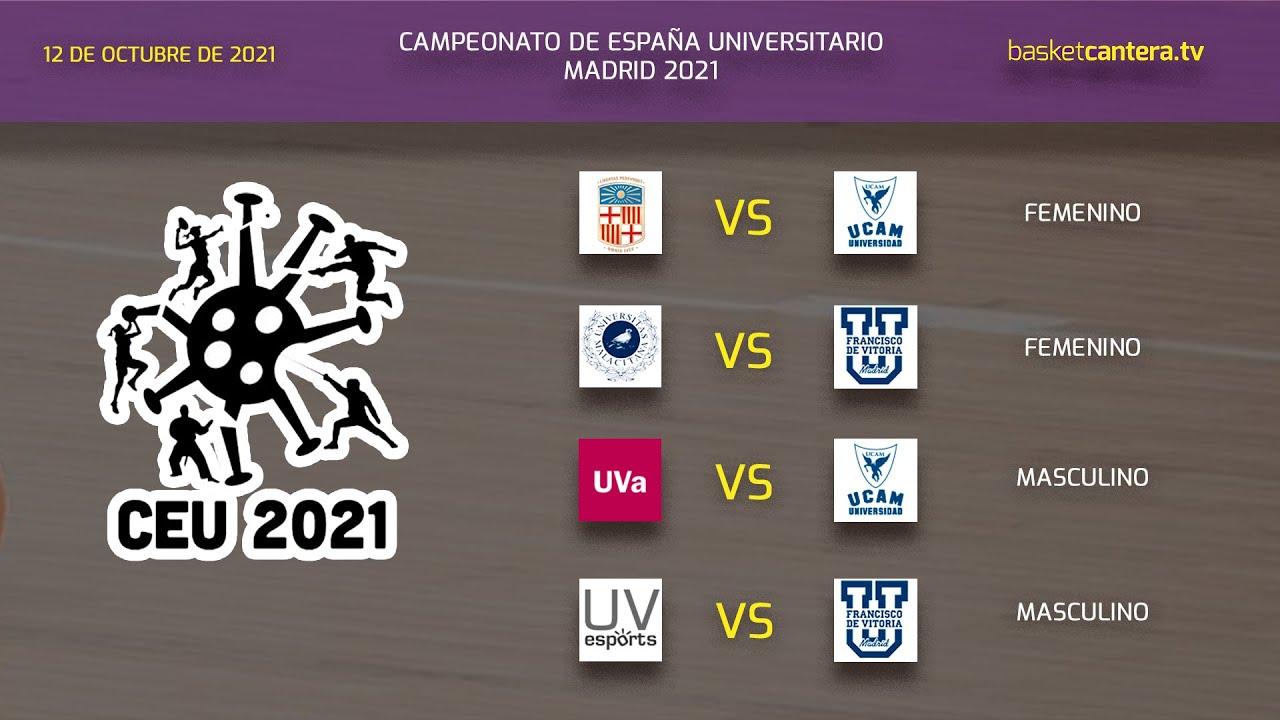 Campeonato de España Baloncesto Universitario - VIDEO 1 - Partidos Sede U. Fco. de Vitoria día 1 (mañana)