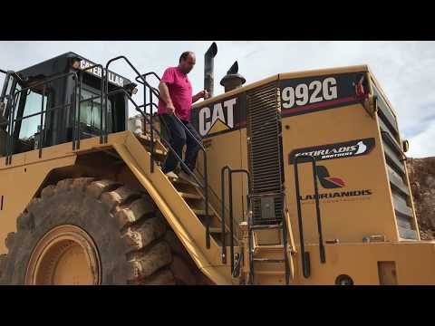 Caterpillar 992G Wheel Loader Loading Cat Dumpers And Operator View - Sotiriadis/Labrianidis Mining