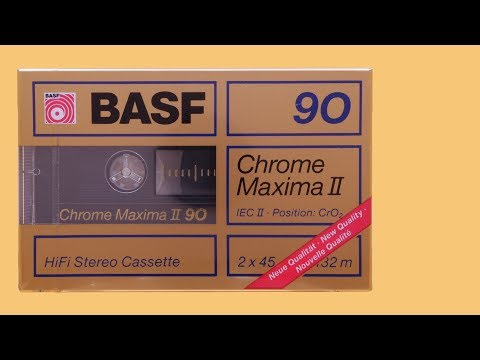 Compact Cassette BASF Chrome Maxima II C90 / 1988 (visual demonstration only) ⁴ᴷ