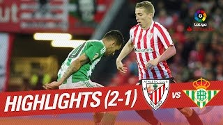 Resumen de Athletic Club vs Real Betis (2-1)