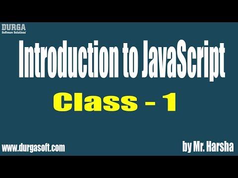 Learn JAVASCRIPT  Online Training || Class - 1 || by Harsha Sir