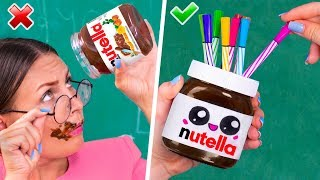 12 DIY Kawaii School Supplies / Back To School Life Hacks