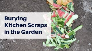 Bury Kitchen Scraps in the Garden to Improve the Soil