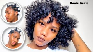 Bantu Knots On Natural Hair | *DETAILED HOW TO*