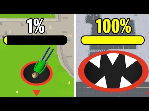 КАК СКУШАТЬ 100% КАРТЫ! - Hole.io Эволюция Дырки