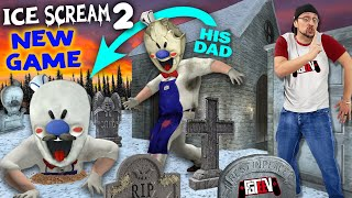ICE SCREAM 2! Chunky Kid Cemetery Chase + FGTEEV is in the NEW GAME!
