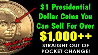 $1 Presidential Gold Dollars You Can Sell For $1,000+ Straight Out Of Change!!