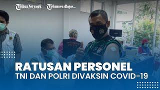 Ratusan Personel TNI dan Polri Jalani Vaksinasi Covid-19 di Kantor Kecamatan Bojonggede