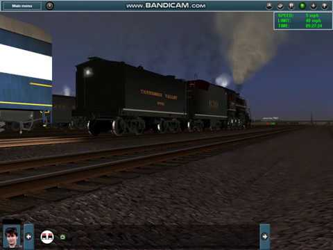 Trainz 12: 4501, 611, and 1218 Tripleheader Part 17: Cable X-Over to